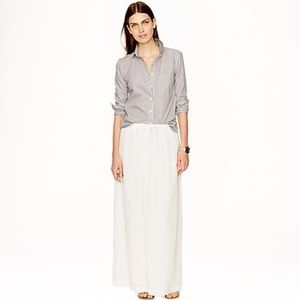 J Crew Gauze Maxi Skirt NEW